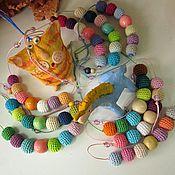 Украшения ручной работы. Ярмарка Мастеров - ручная работа Разноцветные детские короткие бусы в ассортименте. Handmade.