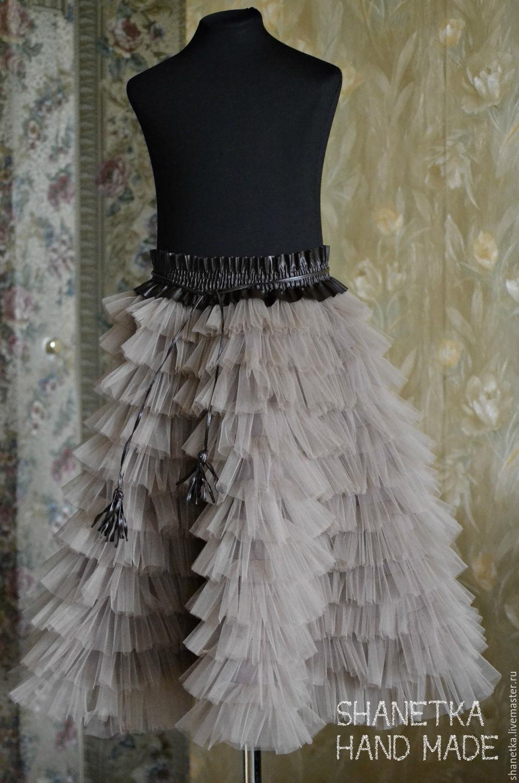 Как сшить юбку с воланами из фатина