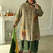Одежда ручной работы. Ярмарка Мастеров - ручная работа Пальто Листья. Handmade.