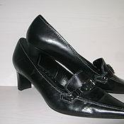 Винтаж ручной работы. Ярмарка Мастеров - ручная работа Черные туфли классические на небольшом каблуке. Handmade.