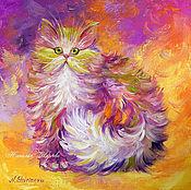 Картины и панно handmade. Livemaster - original item Oil painting cat