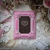 """Сувениры и подарки ручной работы. Ярмарка Мастеров - ручная работа Фоторамка """"Мария де ла Пас"""" розовая классическая. Handmade."""