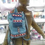 Аксессуары ручной работы. Ярмарка Мастеров - ручная работа рюкзак джинсовый. Handmade.