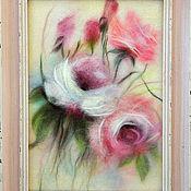 Картины и панно ручной работы. Ярмарка Мастеров - ручная работа нежный сон Картина из шерсти. Handmade.