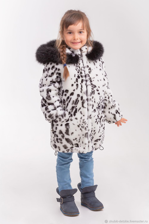 Одежда для девочек, ручной работы. Ярмарка Мастеров - ручная работа. Купить Меховой полушубок из мутона для девочки. Handmade. Пальто