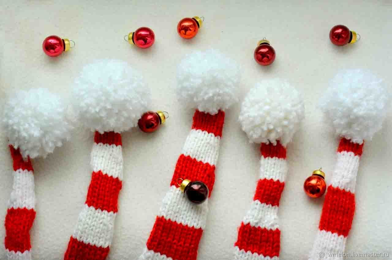 christmas or new years gnome hat newborn knit props