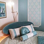 Для дома и интерьера ручной работы. Ярмарка Мастеров - ручная работа Покрывало на круглую кровать с подушками. Handmade.