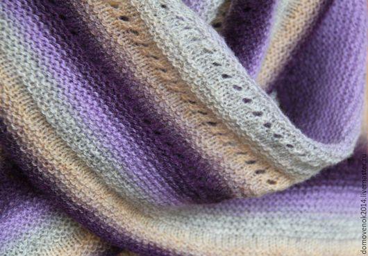 Шали, палантины ручной работы. Ярмарка Мастеров - ручная работа. Купить Шаль Лаванда (датская шаль традиционная). Handmade. Разноцветный
