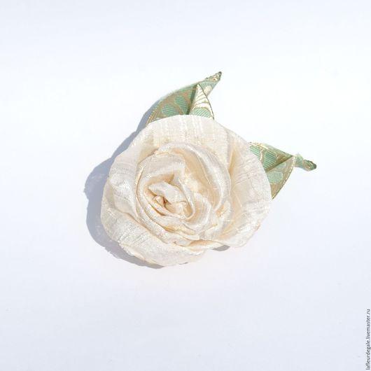 Заколки ручной работы. Ярмарка Мастеров - ручная работа. Купить «Айвори роуз» («Ivory Rose»). Handmade. Бежевый, цветок брошь