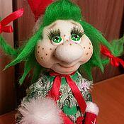 Подарки к праздникам ручной работы. Ярмарка Мастеров - ручная работа Девочка - елочка #4 маленькая. Handmade.