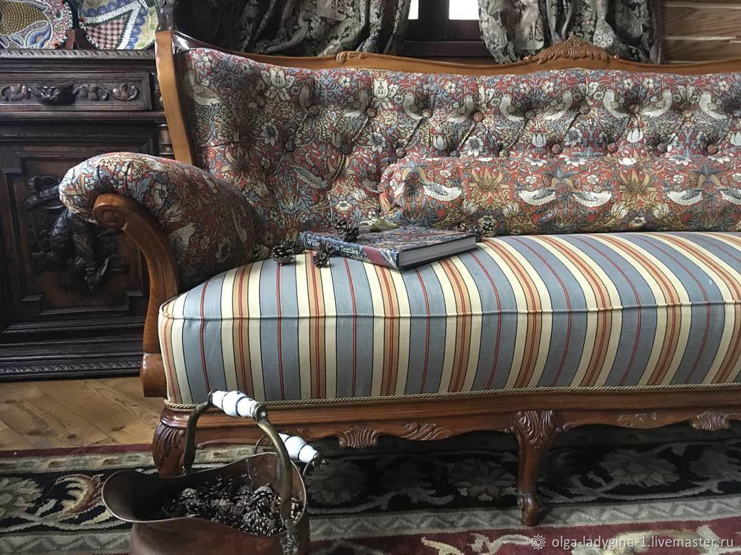 винтажный диван в гобелене Уильяма Морриса, Диваны, Москва,  Фото №1