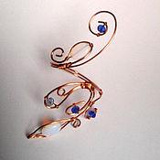 Субкультуры ручной работы. Ярмарка Мастеров - ручная работа Браслет с белыми агатами и синими бусинами. Handmade.