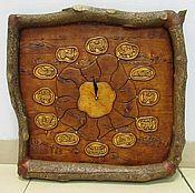 Часы классические ручной работы. Ярмарка Мастеров - ручная работа Часы  от Берендея из бересты. Handmade.