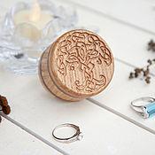 Упаковка ручной работы. Ярмарка Мастеров - ручная работа Коробочка для кольца деревянная Дерево жизни. Handmade.