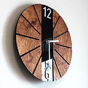 Для дома и интерьера handmade. Livemaster - original item Round wall clock in eco style. Handmade.