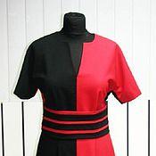 Одежда handmade. Livemaster - original item Two-tone alate with belt. Handmade.