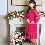 7e42056f25353fd ЦВЕТОК ПУСТЫНИ - платье футляр, хлопок,темный беж – купить в ...
