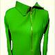 Пиджаки, жакеты ручной работы. Ярмарка Мастеров - ручная работа. Купить Зеленая куртка. Handmade. Зеленый, однотонный, пиджак женский