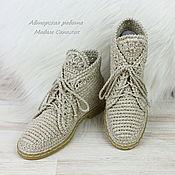 Обувь ручной работы handmade. Livemaster - original item Shoes womens linen. Handmade.