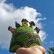 Сувениры и подарки ручной работы. Ярмарка Мастеров - ручная работа Колокольчик На взгорочке керамика. Handmade.
