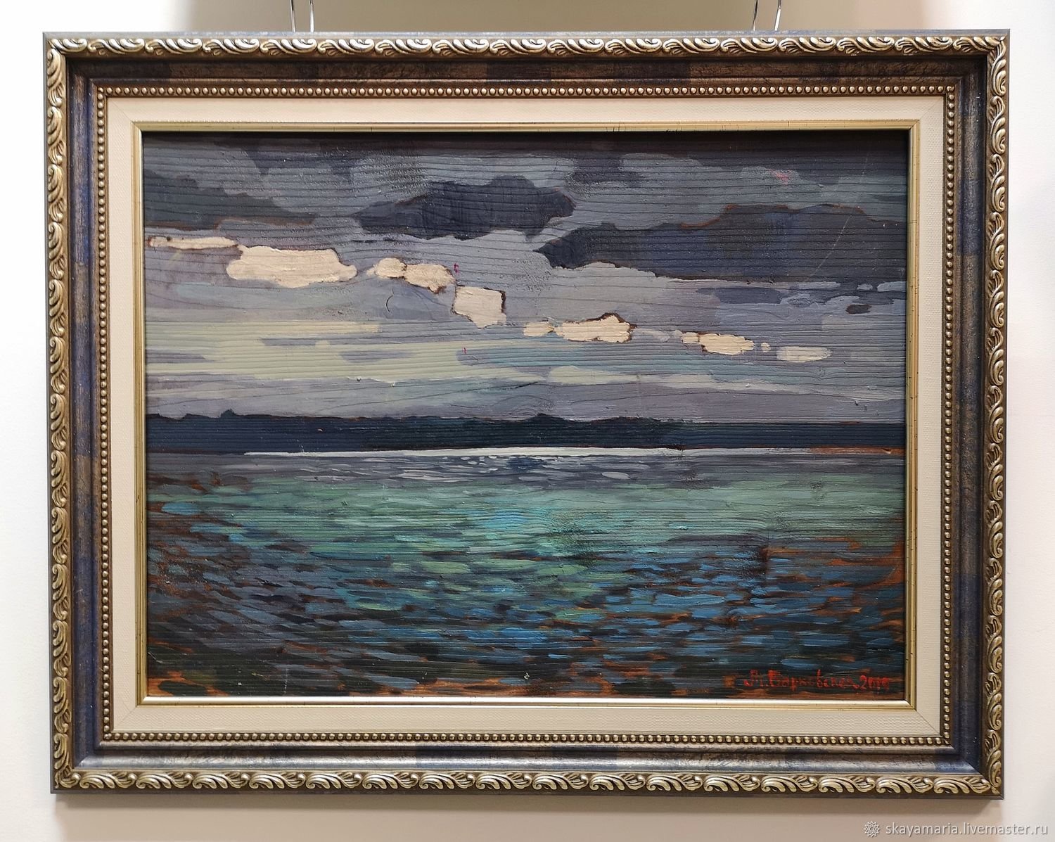 Oil painting on wood Board. Plescheevo lake, Pictures, Moscow,  Фото №1