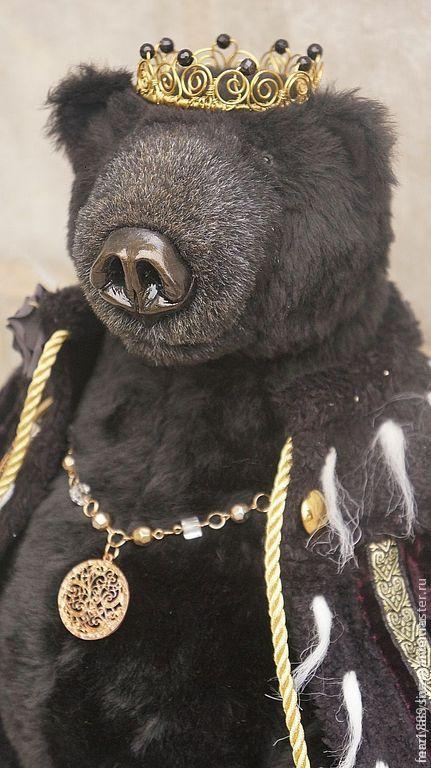 Диадемы, обручи ручной работы. Ярмарка Мастеров - ручная работа. Купить Мини корона для Медведя. Handmade. Золотой, Черный Принц