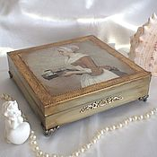 Для дома и интерьера handmade. Livemaster - original item Chocolate girl Jewerly box for women Vintage Jewerly storage. Handmade.