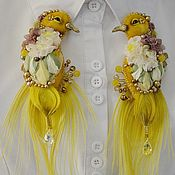 Украшения handmade. Livemaster - original item Brooch yellow bird. Handmade.