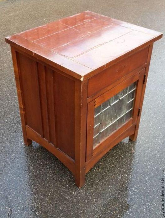 Мебель ручной работы. Ярмарка Мастеров - ручная работа. Купить Тумба прикроватная. Handmade. Рыжий, американская мебель, роспись мебели