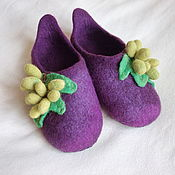 """Обувь ручной работы. Ярмарка Мастеров - ручная работа Тапочки """"Виноград"""". Handmade."""