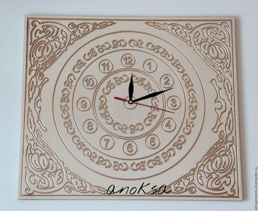 Часы для дома ручной работы. Ярмарка Мастеров - ручная работа. Купить Часы интерьерные с золотом. Handmade. Бежевый, часы настенные