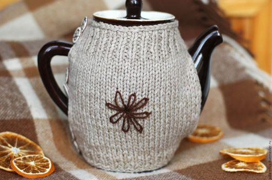 Чайники, кофейники ручной работы. Ярмарка Мастеров - ручная работа. Купить Чайник в свитере Дыхание чаинок. Handmade. Коричневый