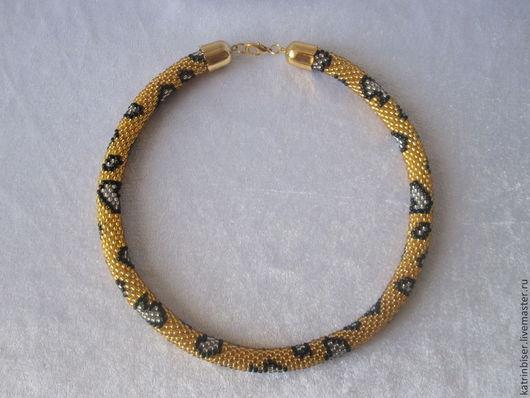 """Колье, бусы ручной работы. Ярмарка Мастеров - ручная работа. Купить Жгут""""Анаконда"""". Handmade. Бисерный жгут, подарок женщине, год змеи"""