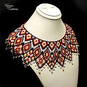 Украшения handmade. Livemaster - original item Collar shoulder piece in folk style. Handmade.