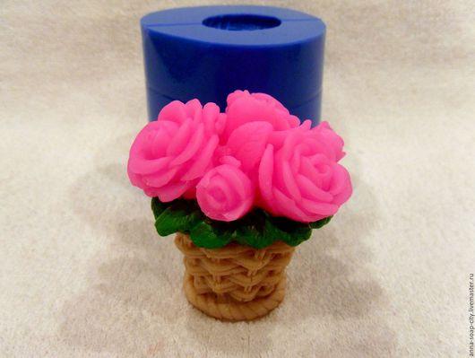 """Другие виды рукоделия ручной работы. Ярмарка Мастеров - ручная работа. Купить Силиконовая форма для мыла """"Корзинка с цветами"""". Handmade."""
