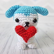 Подарки к праздникам handmade. Livemaster - original item Puppy with a big heart. Handmade.
