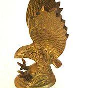 Винтаж handmade. Livemaster - original item Wonderful bronze eagle paperweight. Handmade.