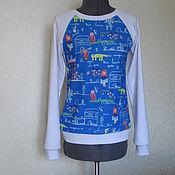 Одежда ручной работы. Ярмарка Мастеров - ручная работа стильный свитшот с модным принтом Dolce & Gabbana.. Handmade.