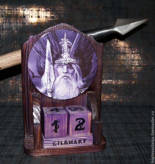 """Календари ручной работы. Ярмарка Мастеров - ручная работа. Купить Вечный календарь """" Der Siegvater"""". Handmade. Тёмно-фиолетовый"""
