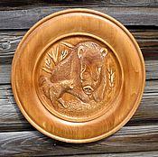 Картины и панно handmade. Livemaster - original item The plate is carved.Panels.. Handmade.