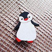 Украшения ручной работы. Ярмарка Мастеров - ручная работа Пингвинчик -  брошь/магнит/кольцо/брелок. Handmade.