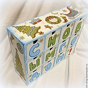 Для дома и интерьера ручной работы. Ярмарка Мастеров - ручная работа Декор новогоднего ящика.. Handmade.