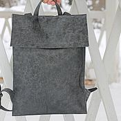 Сумки и аксессуары handmade. Livemaster - original item Urban backpack genuine full grain leather Kombi Grey haze. Handmade.