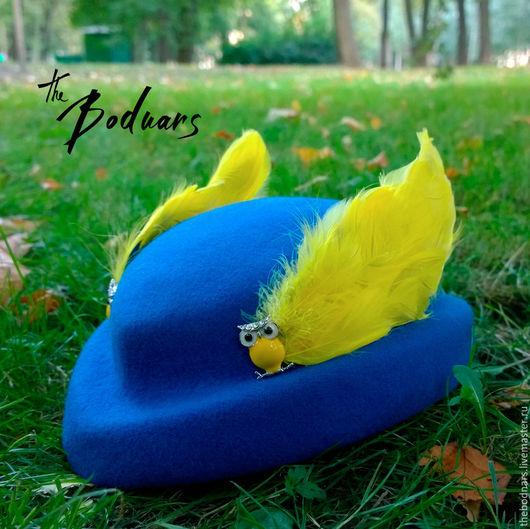 Шляпы ручной работы. Ярмарка Мастеров - ручная работа. Купить Фетровая пилотка Гермес. Handmade. Шляпа, фетровая шляпа, крылья