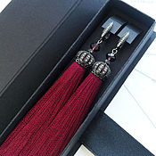 Украшения handmade. Livemaster - original item Earrings tassels berry. The LUX collection. Burgundy tassels earrings. Handmade.