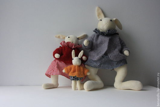 Игрушки животные, ручной работы. Ярмарка Мастеров - ручная работа. Купить Каролина и Люсьен. Игровые кролики. Пасхальные кролики. Handmade.