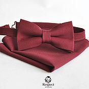 Аксессуары handmade. Livemaster - original item Tie Burgundy pocket square Pasha / Wedding Marsala. Handmade.