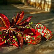 Украшения ручной работы. Ярмарка Мастеров - ручная работа Вишневый браслет пейсли. Handmade.