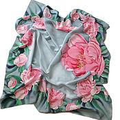 Аксессуары handmade. Livemaster - original item Batik Scarf Pink peony. Handmade.