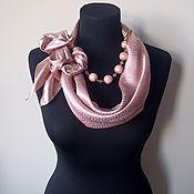 Украшения handmade. Livemaster - original item Scarf-necklace 510 Atlas. Handmade.